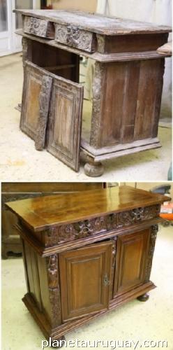 Arreglos restauraciones y reciclado de muebles y cuadros for Muebles modernos montevideo