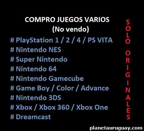 Compro Tus Juegos Viejos Nintendo Play Game Boy En Montevideo